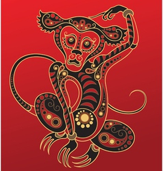 Chinese horoscope Year of the monkey vector image