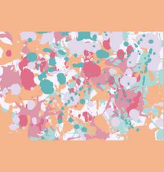Turquoise red pink orange ink splashes background vector