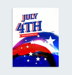4th july independence day flyer vector image