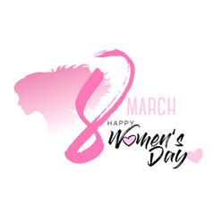 8th march with women silhouette international vector image