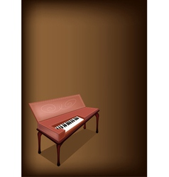 A Retro Clavichord on Dark Brown Background vector image