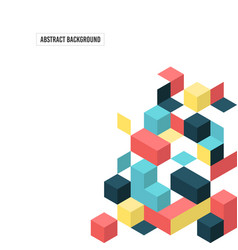 Abstract modern geometric composition background vector