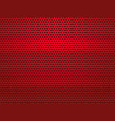 abstract red perforated metal background vector image