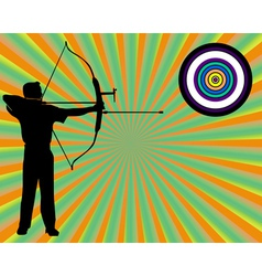 archer shoots at a target vector image