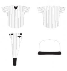Base ball uniform vector