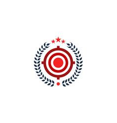 beer target logo icon design vector image