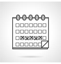 Black icon for menstrual calendar vector