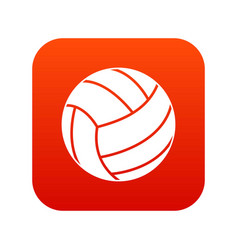 black volleyball ball icon digital red vector image