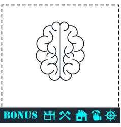brain icon flat vector image