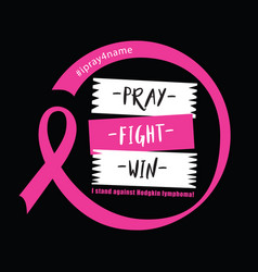 Breast cancer quote and saying good for print vector