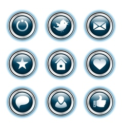 button with download sign vector image