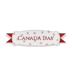 Canada Day greeting Banner with Ribbon vector