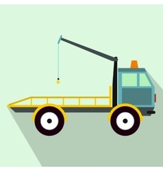 Car towing truck icon in flat style vector