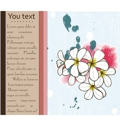 Card with plumeria vector image