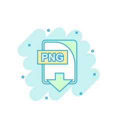 Cartoon colored png file icon in comic style png vector
