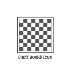 Chess board icon simple flat style vector