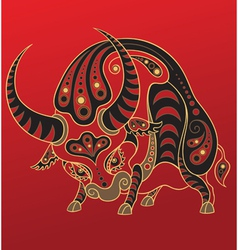 chinese horoscope year ox vector image