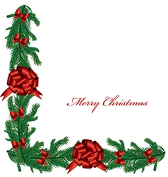Christmas Branches Border vector
