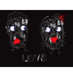 Couple Of Robots vector image