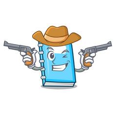 cowboy education character cartoon style vector image