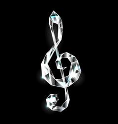 crystal musical symbol vector image