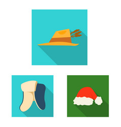 design of headgear and cap logo collection vector image