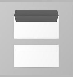 dl envelopes mockup front and back view vector image