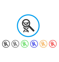 Dna analysis rounded icon vector