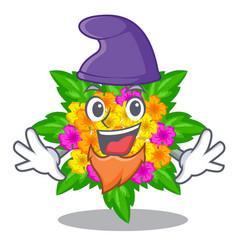 Elf lantana flowers in the mascot pots vector