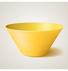 Empty bowl yellow with shadow vector image