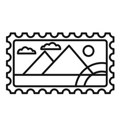 envelope timbre icon outline style vector image