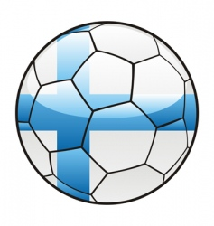 Finland flag on soccer ball vector