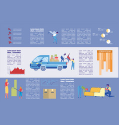 Furniture and cleaning agency infographic slide vector