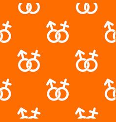 gender symbol pattern seamless vector image