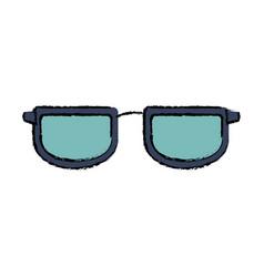 Glasses accessory frame fashion trendy vector