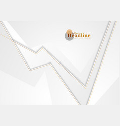 grey abstract corporate background with bronze vector image