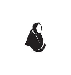 Hijab black symbol vector