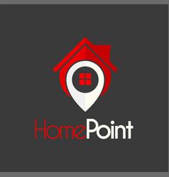 House locate place logo design template vector