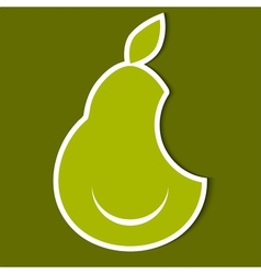 Humorous image of pear eps10 vector image