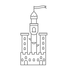 icon medieval castle fairy tale tower vector image