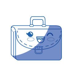 Kawaii briefcase icon vector
