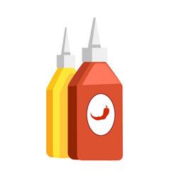 Ketchup chili and mustard vector