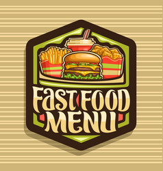 Logo for fast food vector