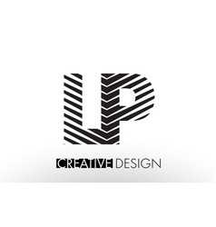 Lp l p lines letter design with creative elegant vector
