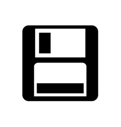 magnetic floppy disc icon for computer data vector image