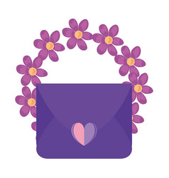 Mail message love vector