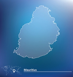 Map of Mauritius vector
