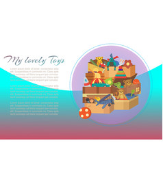 my favorite toys time to play kids games vector image