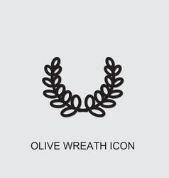 Olive wreath icon vector
