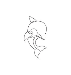 one continuous line drawing friendly cute vector image